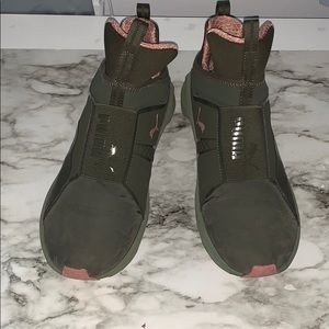 puma fierce army green sneakers